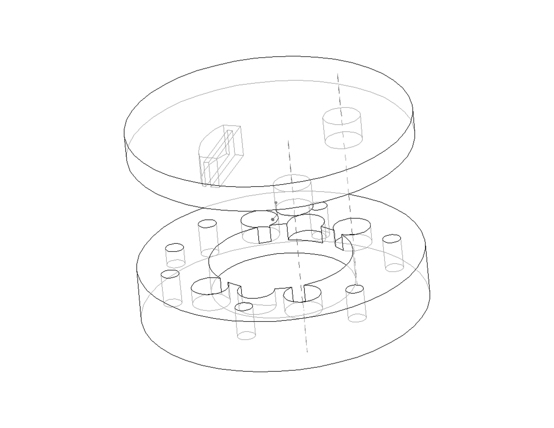 three pin coupling prototype